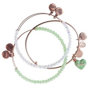 Alex and Ani 'Be Mine' Sweet Set of 3 Bangles